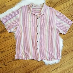 Tommy Bahama Silk Button Down Shirt XL